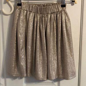 Skater Gold Holiday Skirt